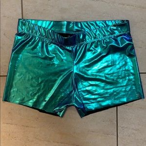 Forever 21 Metallic spandex shorts